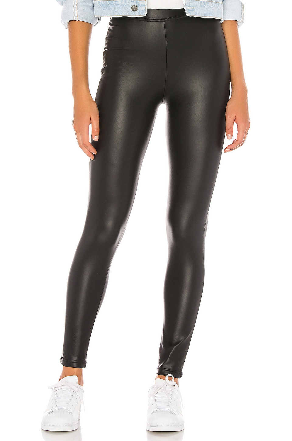 Plush Fleece Lined High Waisted Liquid Legging en Black