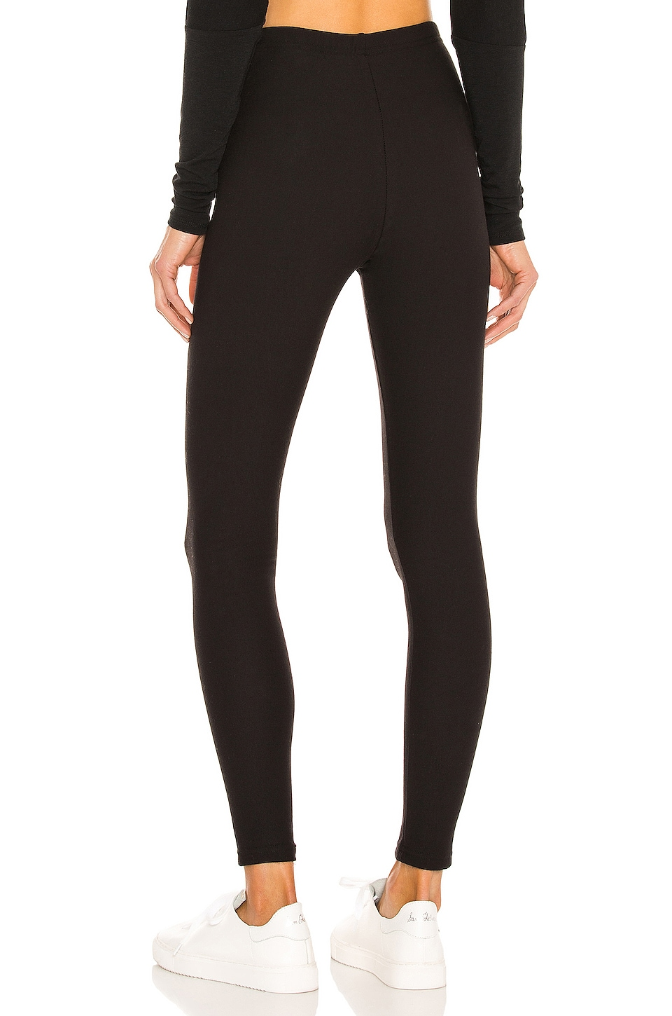 Plush Cotton Fleece Lined Legging in Black