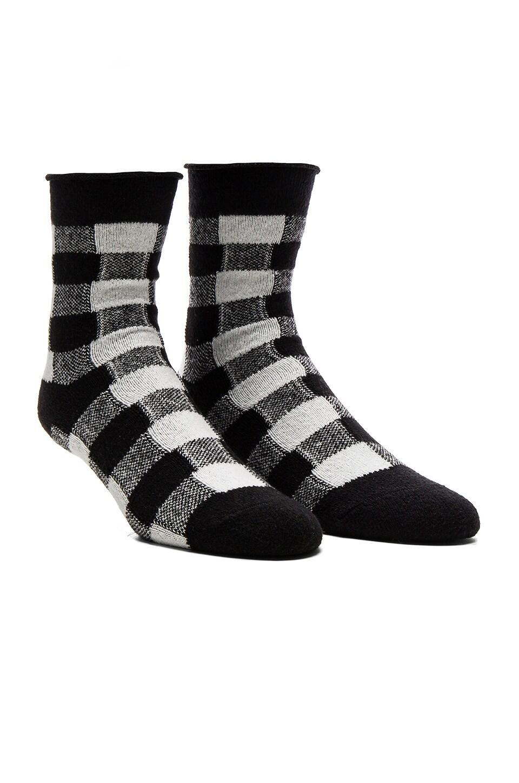 Thin Rolled Fleece Sock by Plush