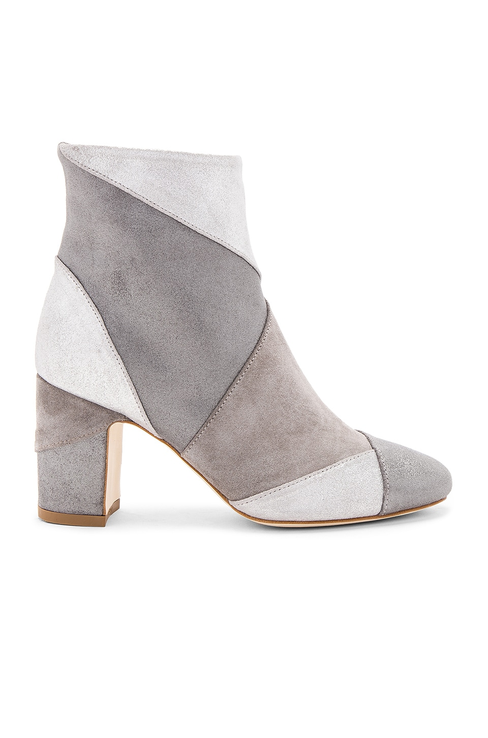 Polly Plume Ally Keywest Booties in Silver