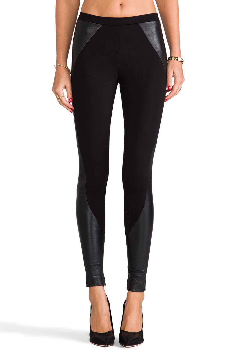 primary Moto Stretch Legging in Black