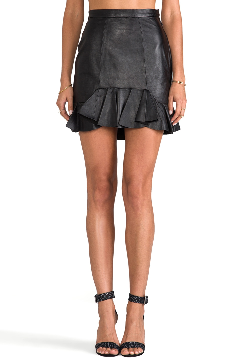 primary Moet Flounce Skirt in Black