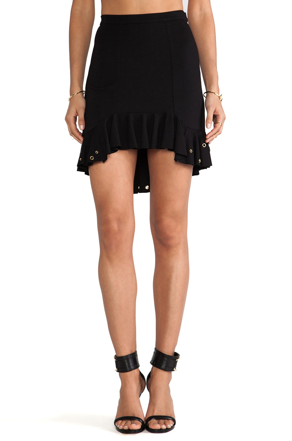 primary Embellished Moet Skirt in Black & Gold