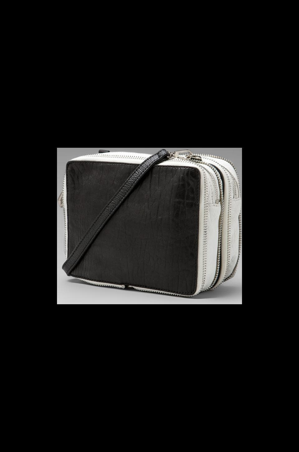 Pour La Victoire Marcelle Mini Crossbody in Black/White