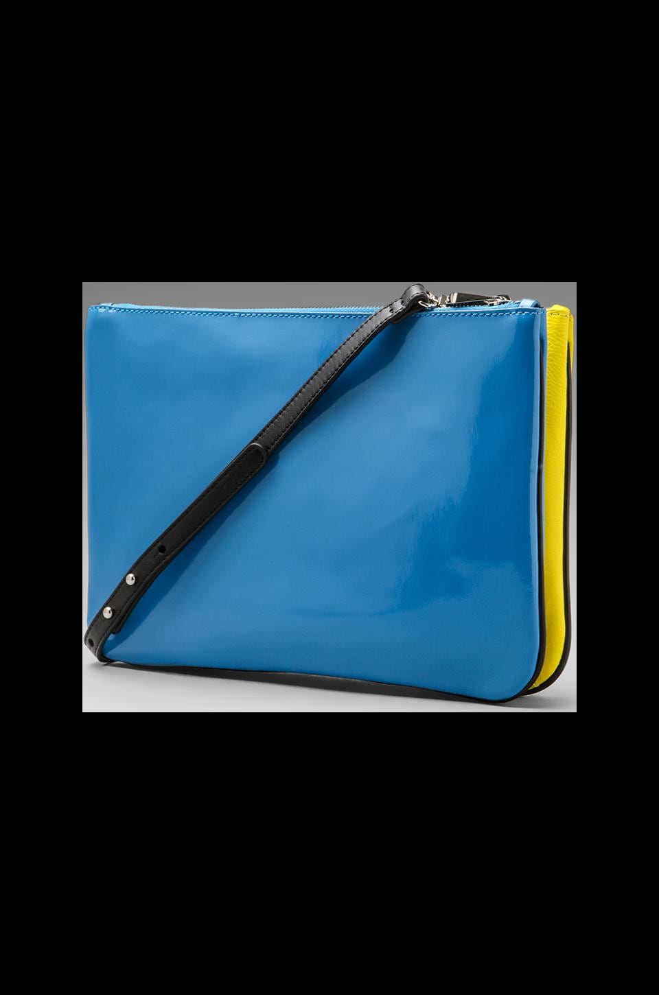 Pour La Victoire Melle Convertible Ipad Clutch in Blue/Butter