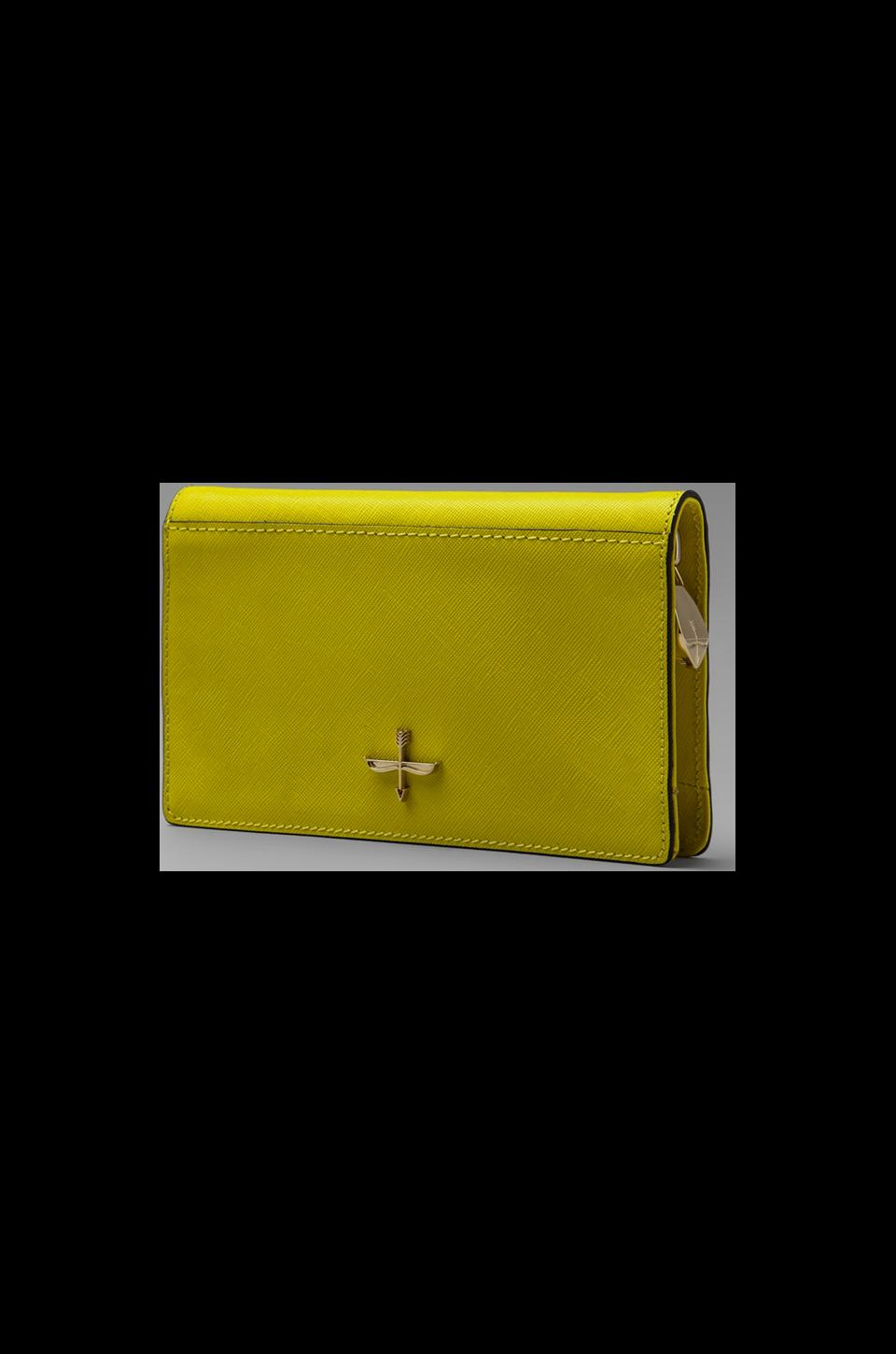 Pour La Victoire Yves Zip Around Wallet in Lemon