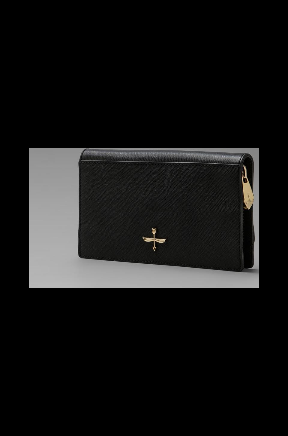 Pour La Victoire Yves Zip Around Wallet in Black