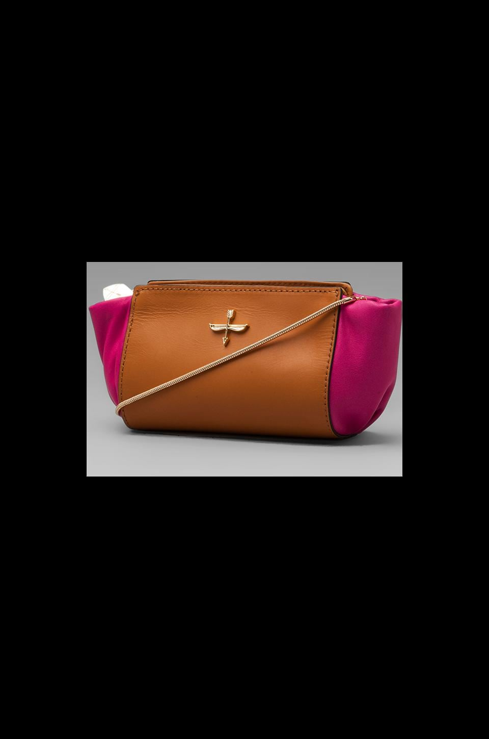 Pour La Victoire Elie Mini Cross Body in Fuchsia
