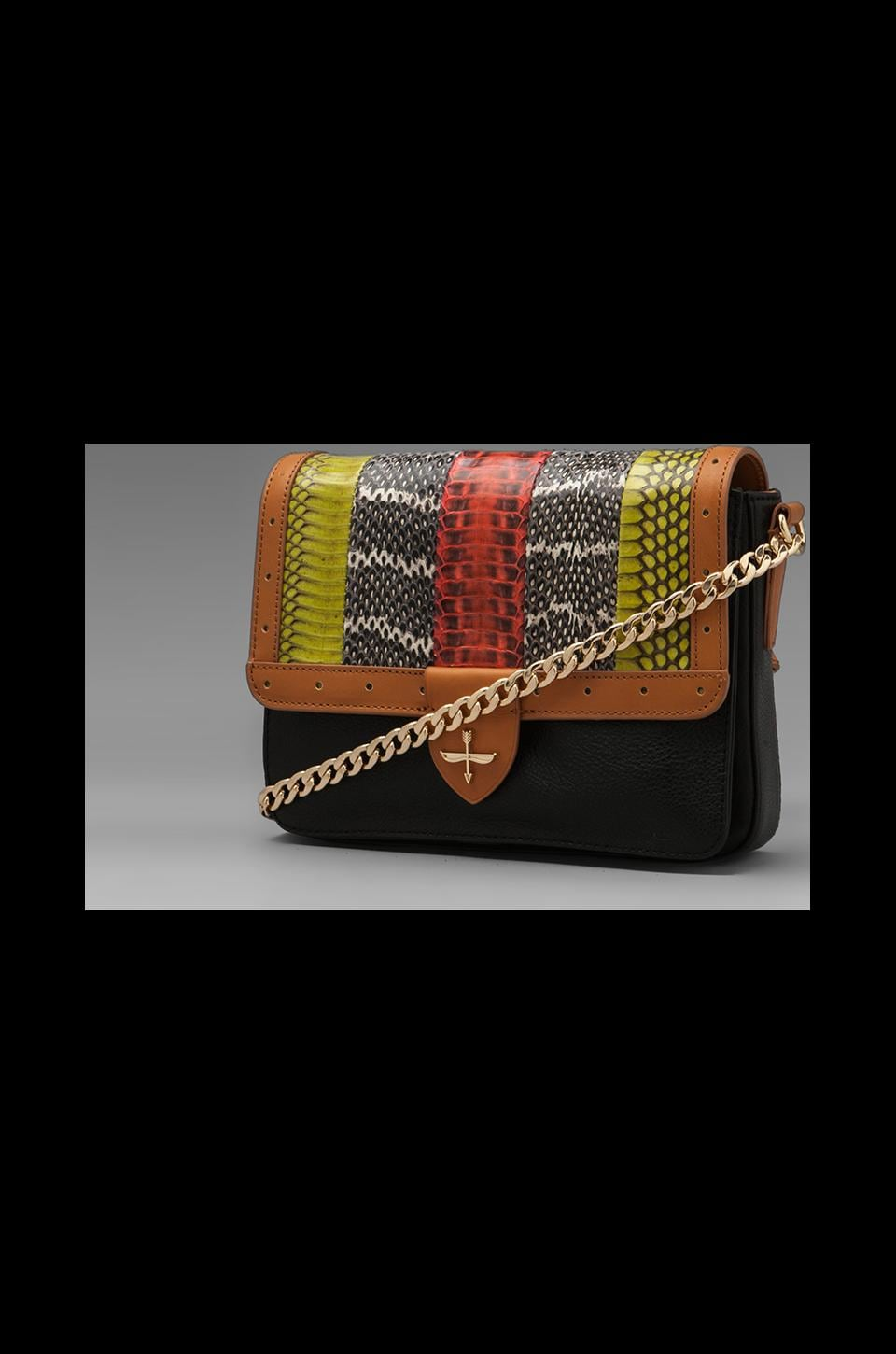 Pour La Victoire Maurice Long Shoulder Purse in Snake Multi