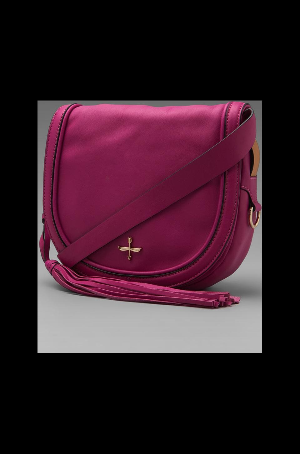 Pour La Victoire Nina Mini Saddle Bag in Fuchsia