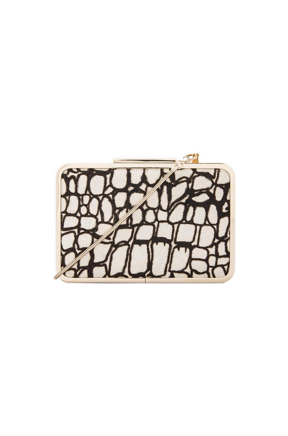 Pour La Victoire Clemence Minaudiere Clutch in White/Black