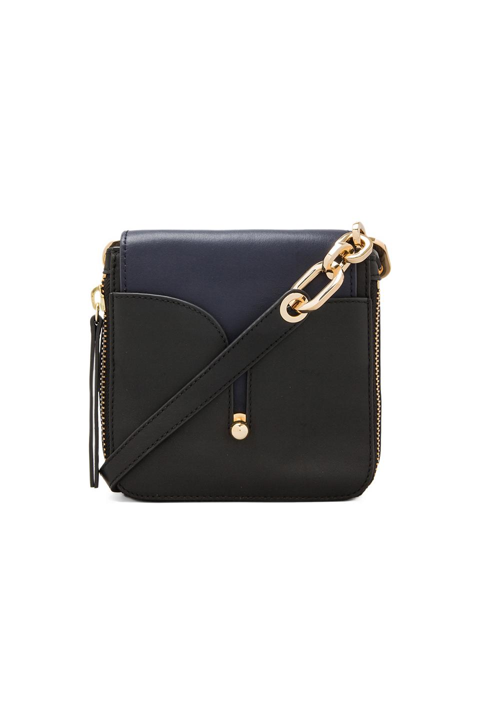 Pour La Victoire Crossbody Bag in Black/Navy