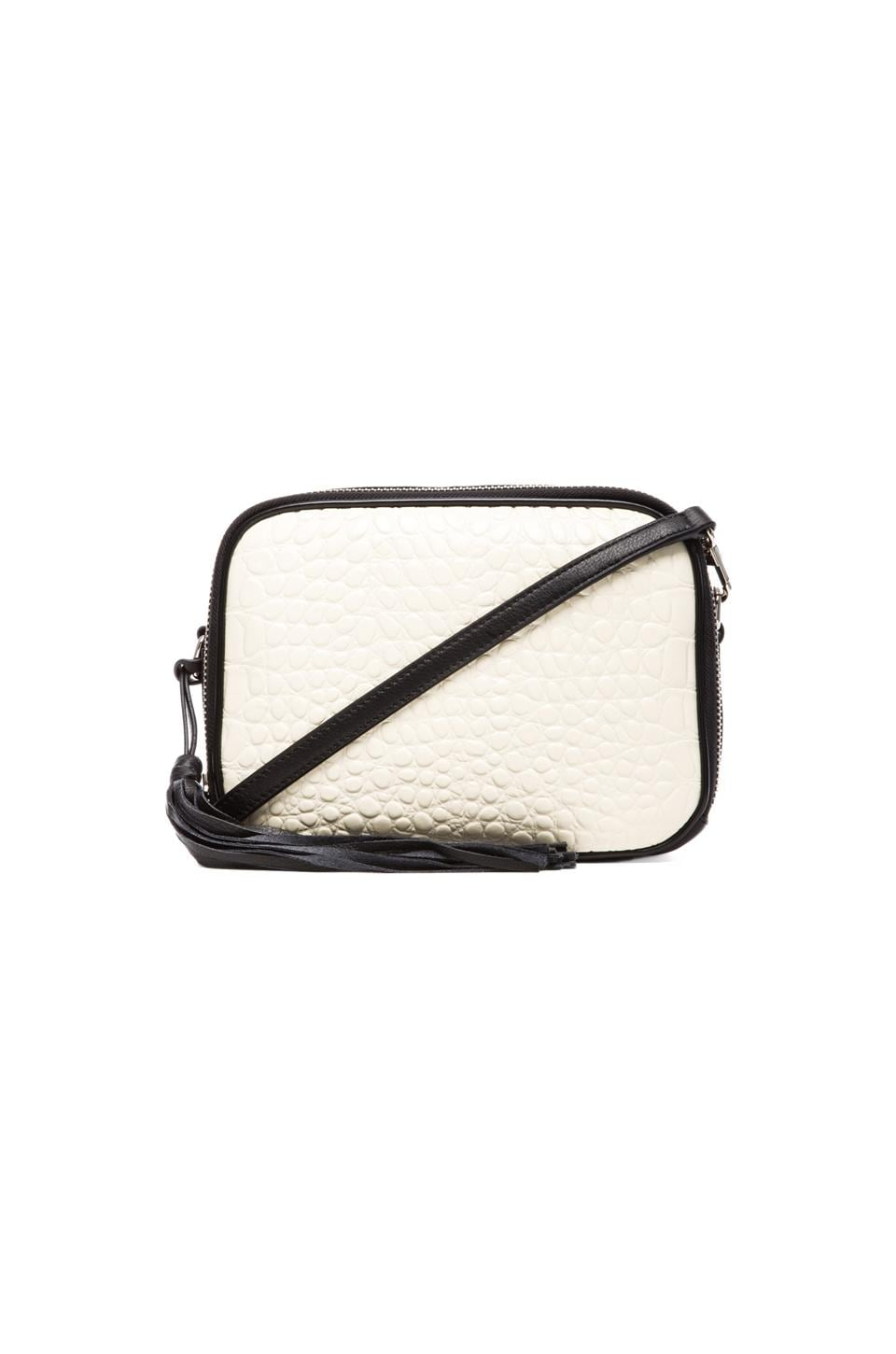 Pour La Victoire Crossbody Bag in White/Black