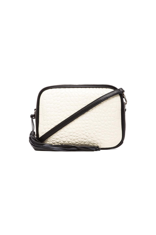 Pour La Victoire Crossbody Bag in White/Black