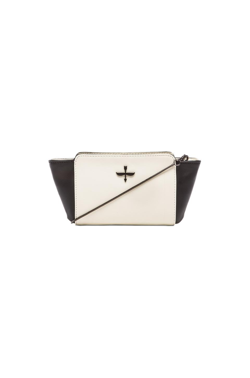 Pour La Victoire Mini Crossbody in Black & White