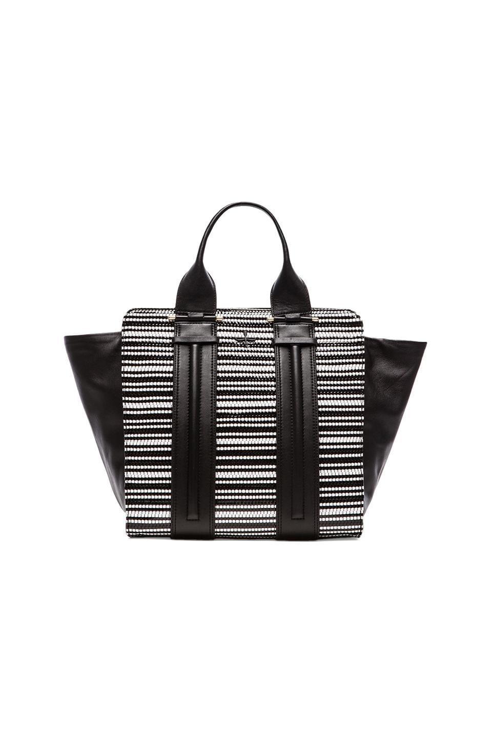 Pour La Victoire The Servant Tote in Black & White Weave