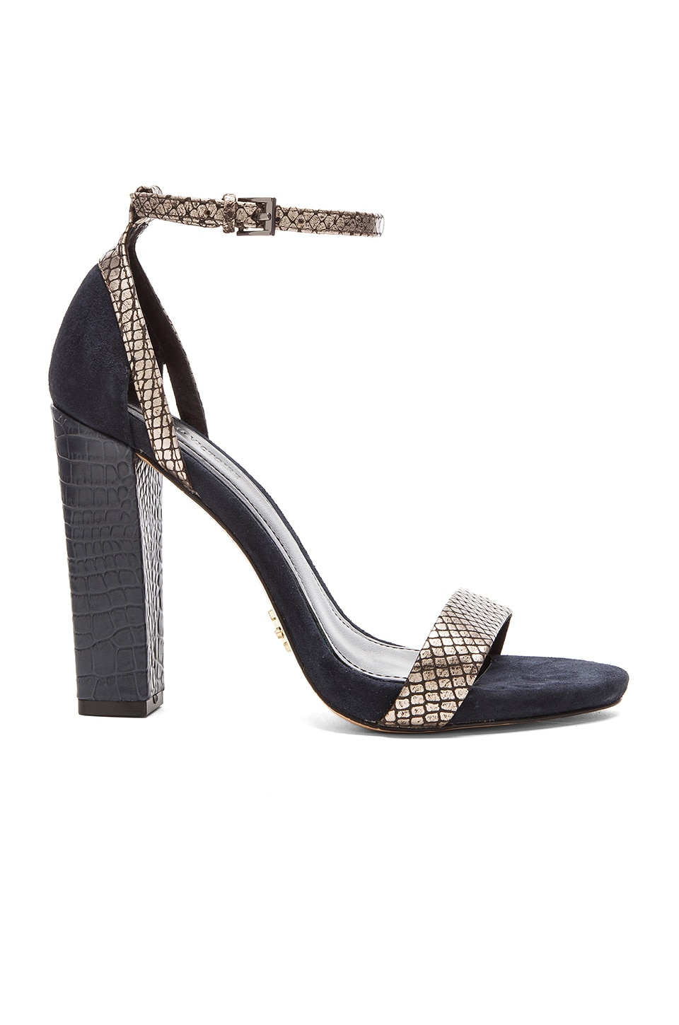 Pour La Victoire Chase Heel in Pewter & Indigo