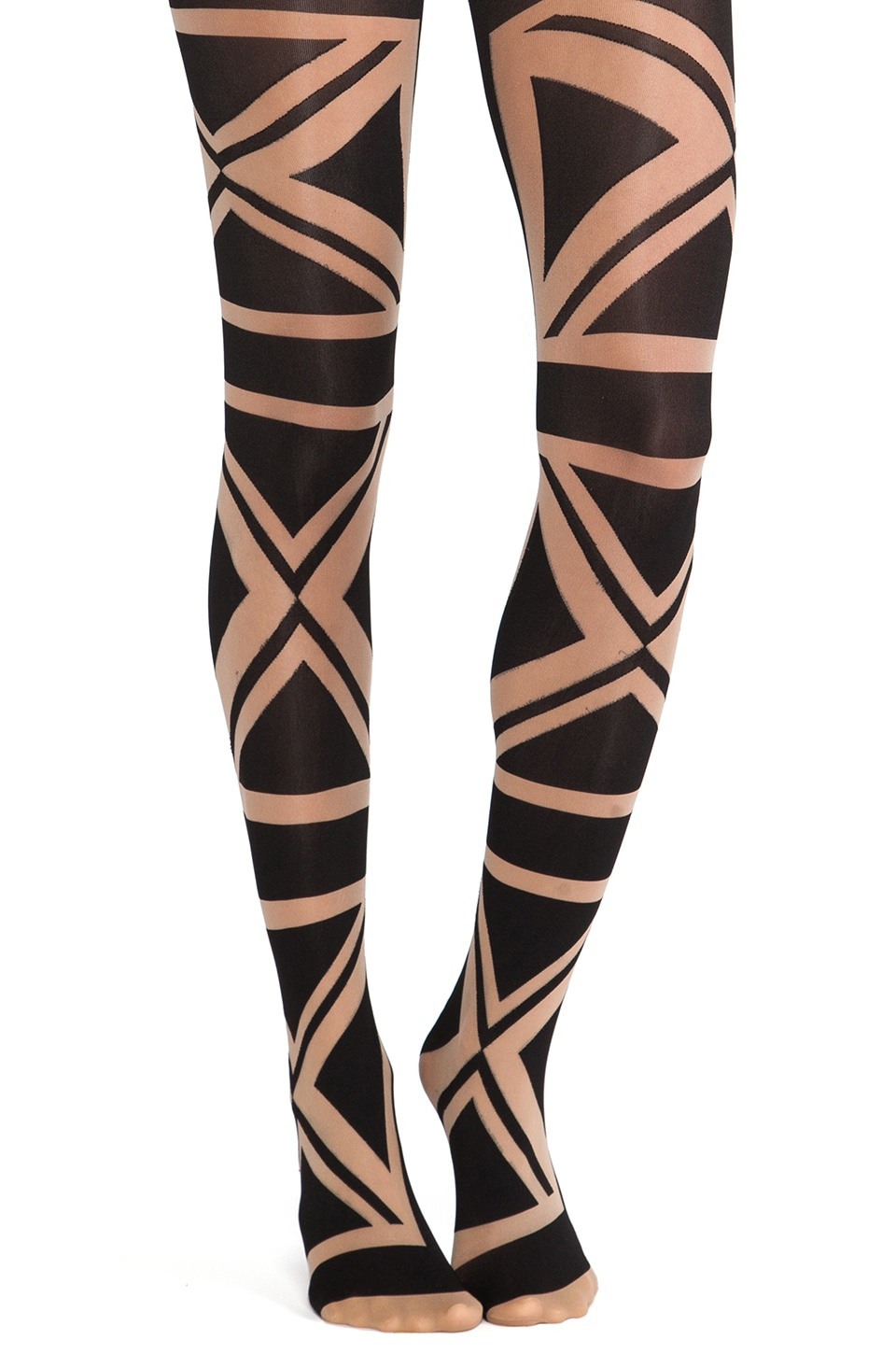 Pretty Polly Union Flag Tights in Nude/Black