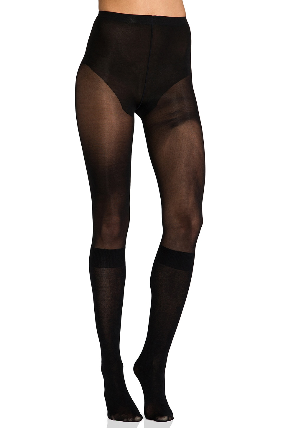 Pretty Polly Secret Socks Over the Knee in Black