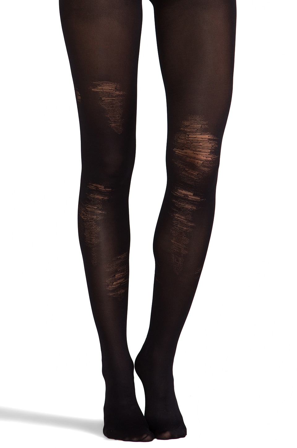 Pretty Polly Shredded Tights in Black