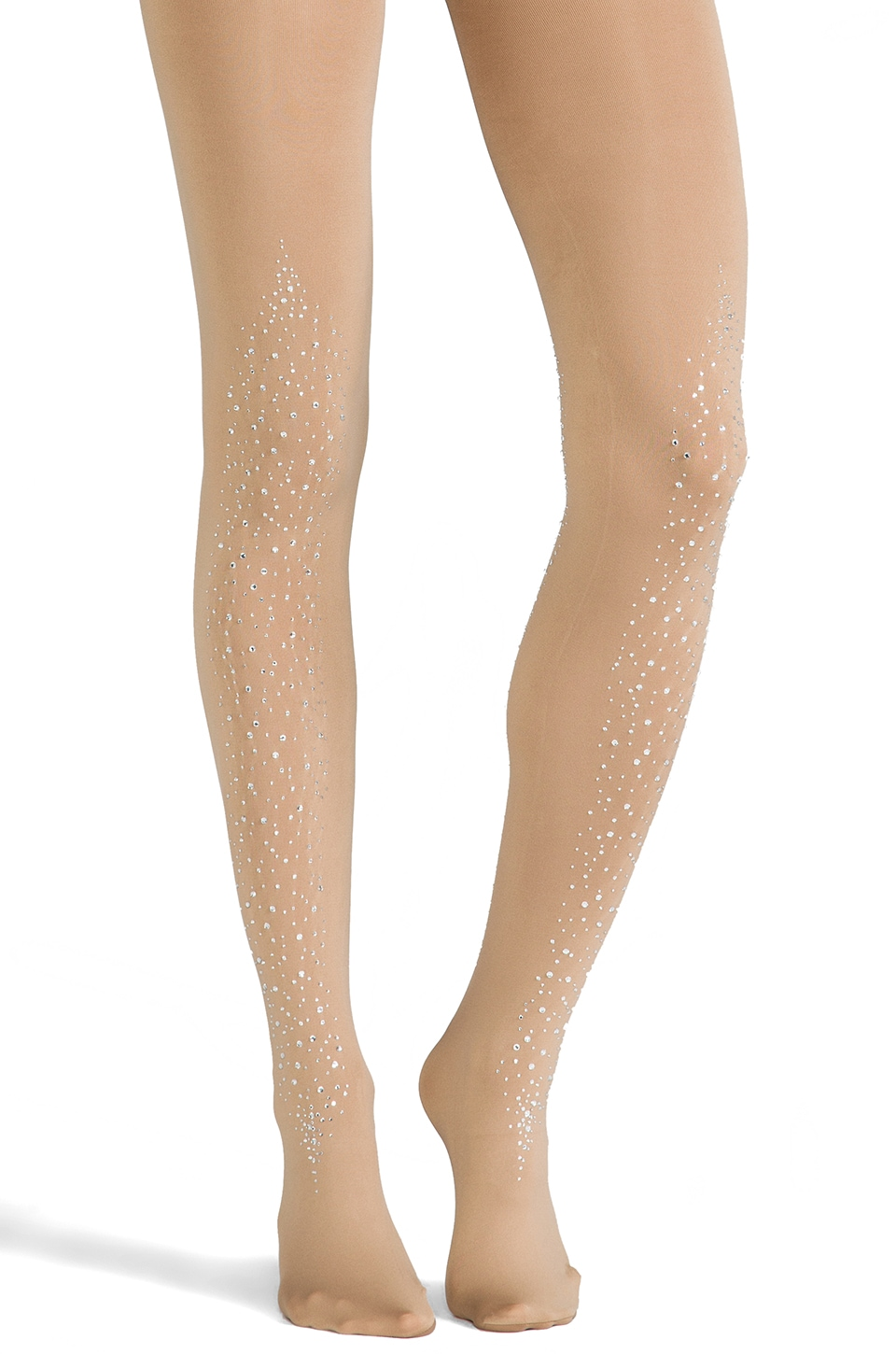 Pretty Polly Show Stopper Crystal Covered Tights in Nude/Clear