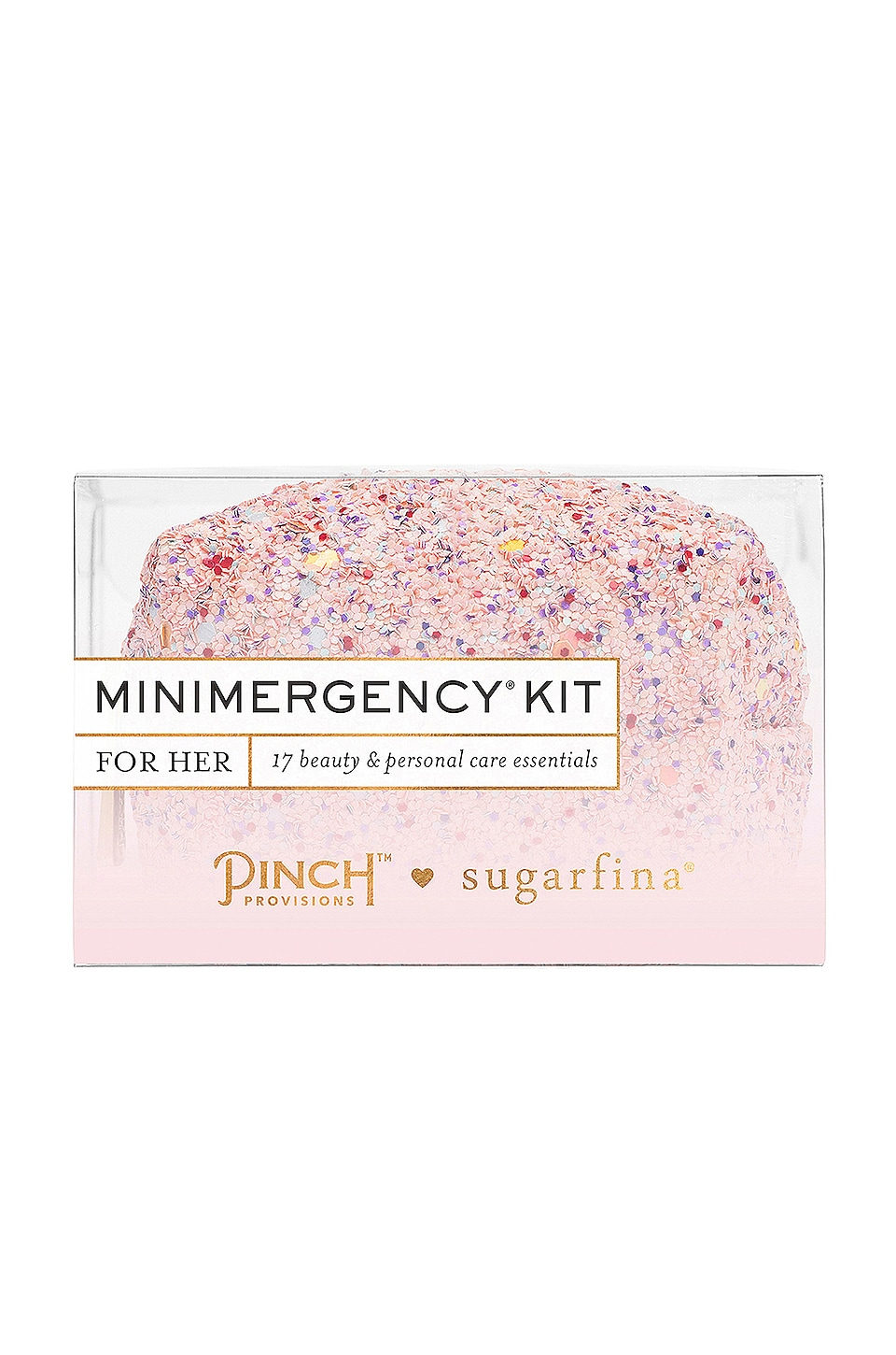 Pinch Provisions x Sugarfina Minimergency Kit in Pink Multi Glitter