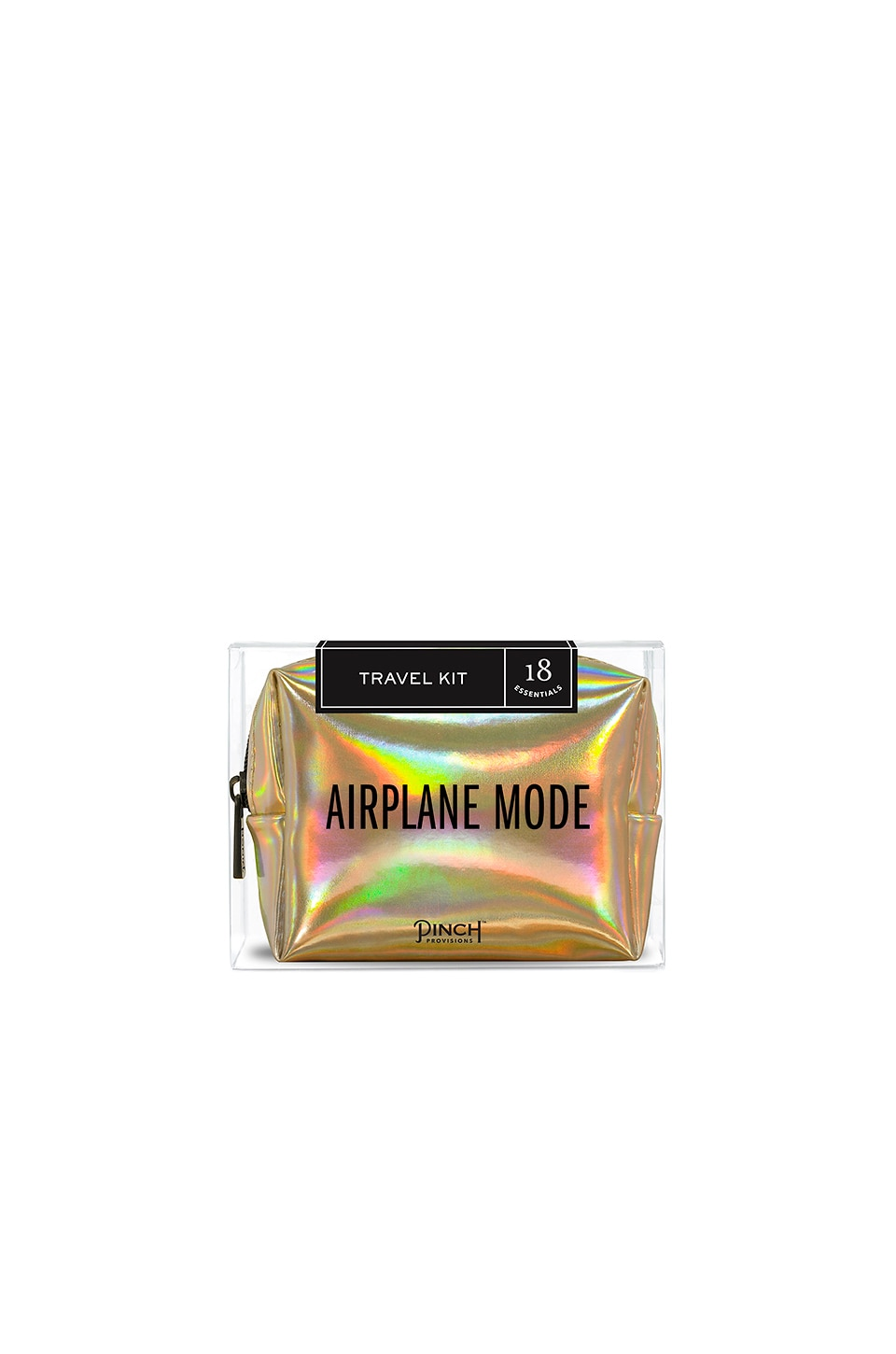 Pinch Provisions Airplane Mode Travel Kit in Gold Hologram