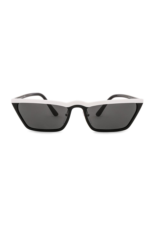 Prada Ultravox Acetate in White, Black & Grey