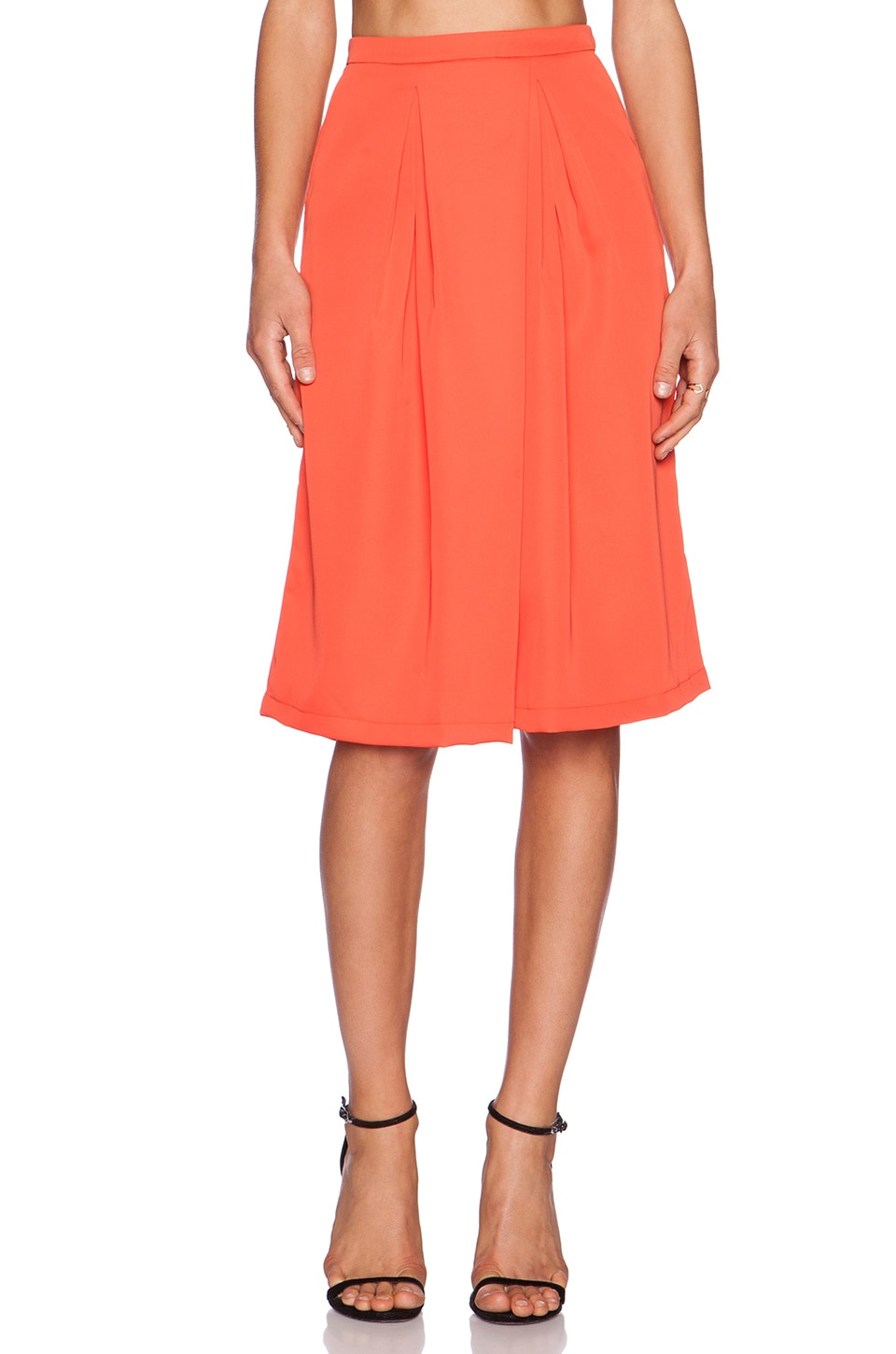 Premonition Melon Me Over Culottes in Melon