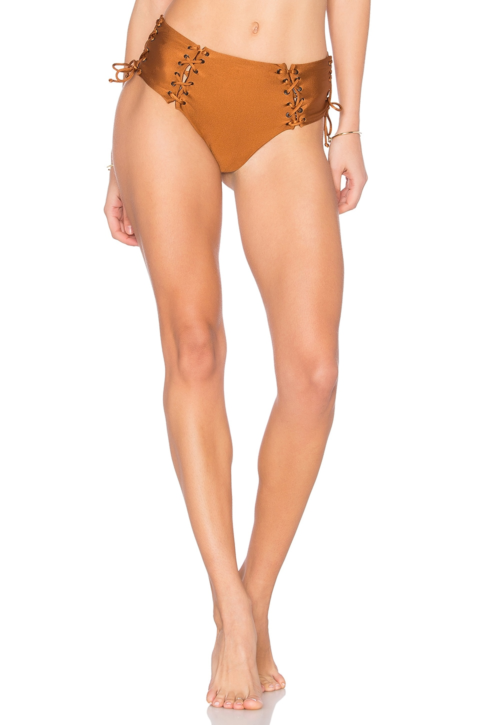 Lace Up High Waisted Bottom by Prey Swim