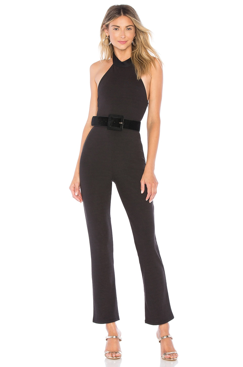 Privacy Please Maddie Jumpsuit in Black