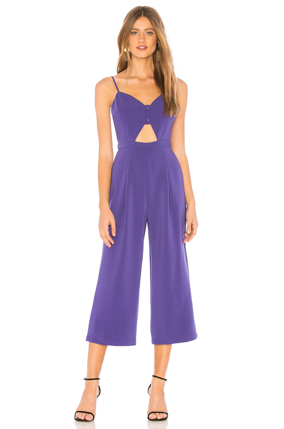 Privacy Please Axel Jumpsuit in Royal Purple