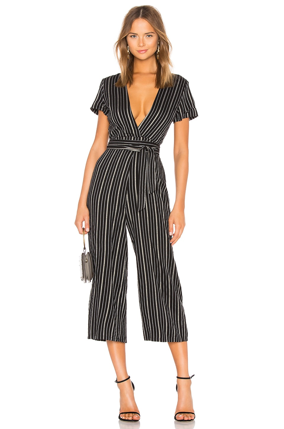 Privacy Please Norwalk Jumpsuit in Black & Gold