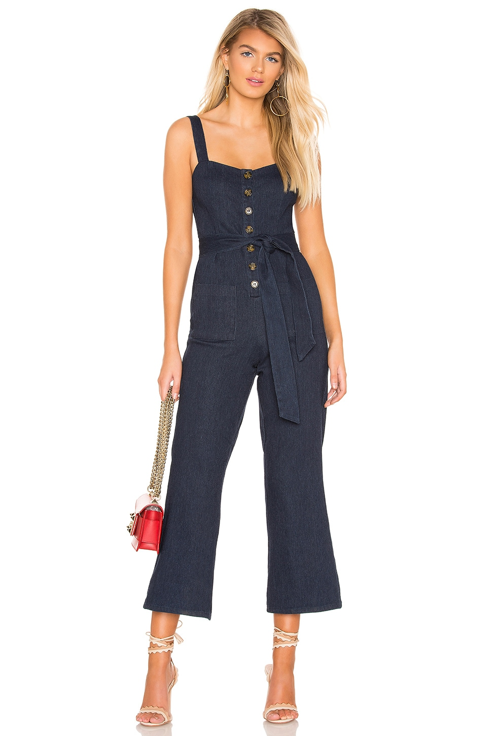Privacy Please Clementine Jumpsuit in Dark Indigo