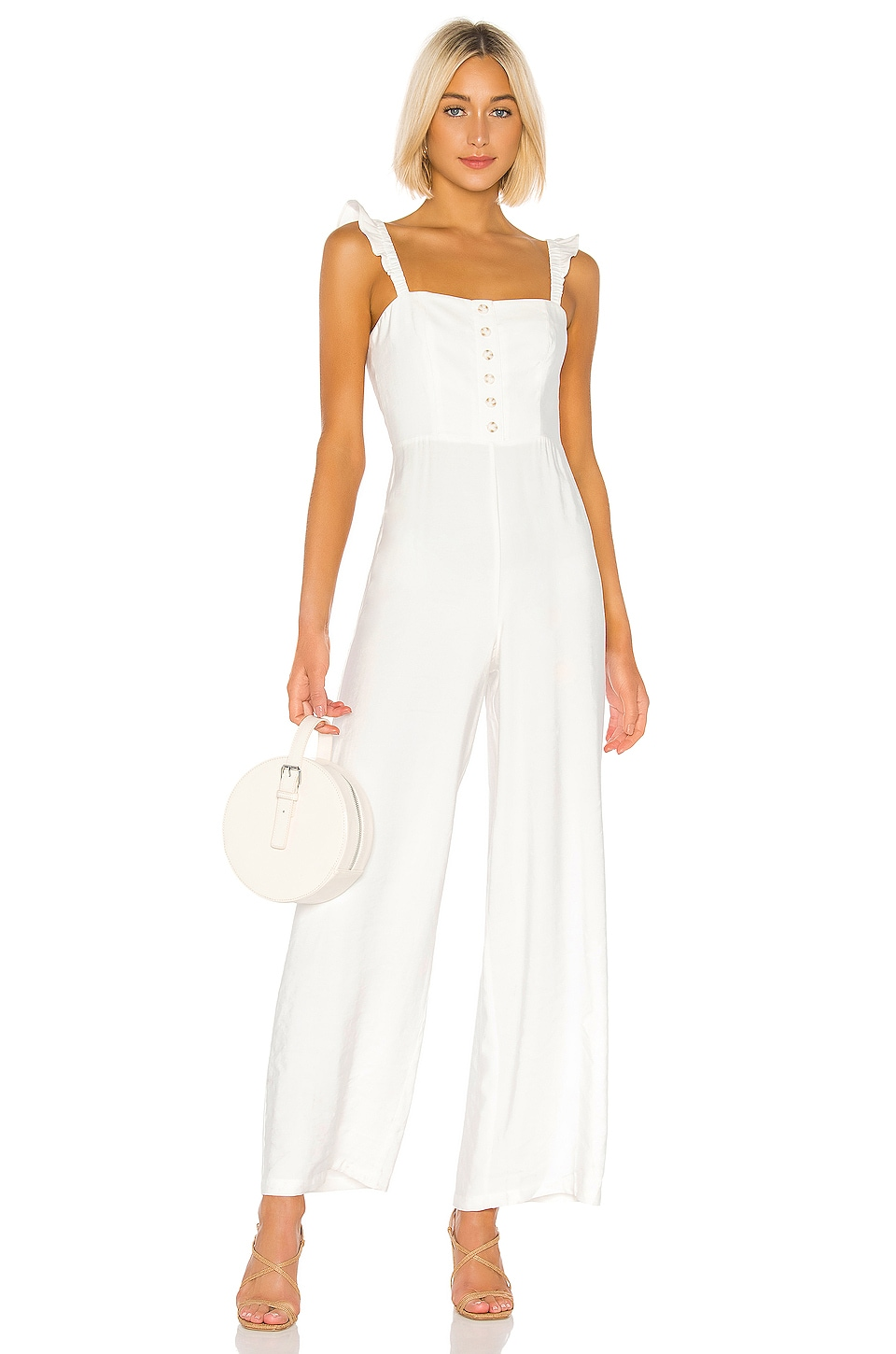 Privacy Please Mojave Jumpsuit in White
