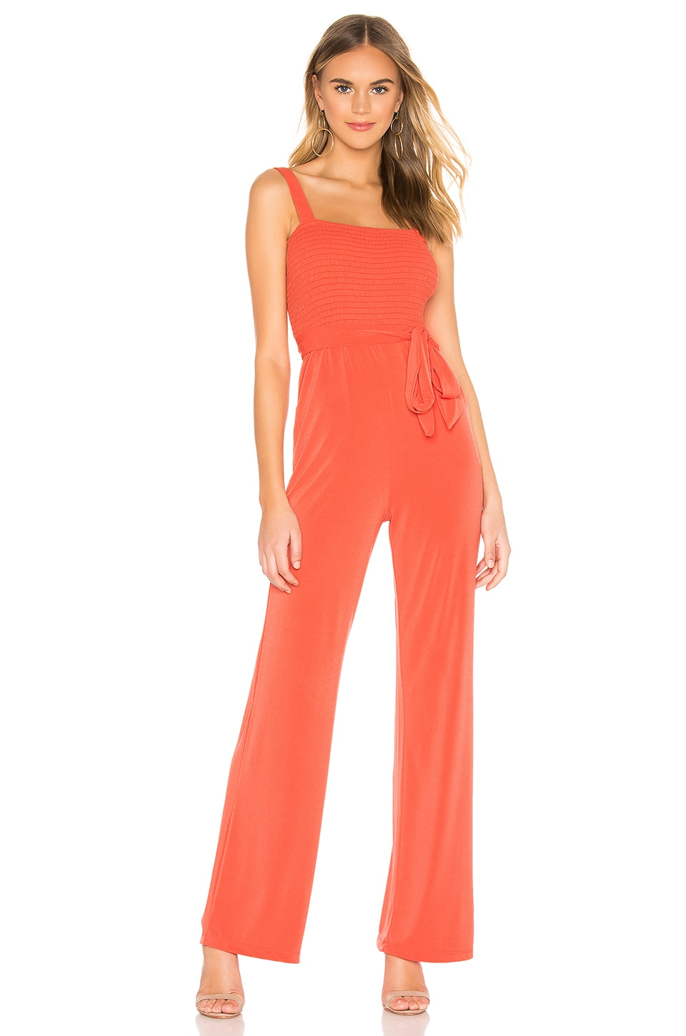 Privacy Please Abella Jumpsuit in Coral