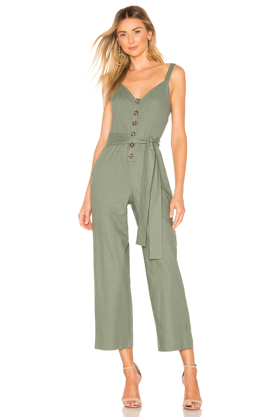 Privacy Please Rosemary Jumpsuit in Sage Green