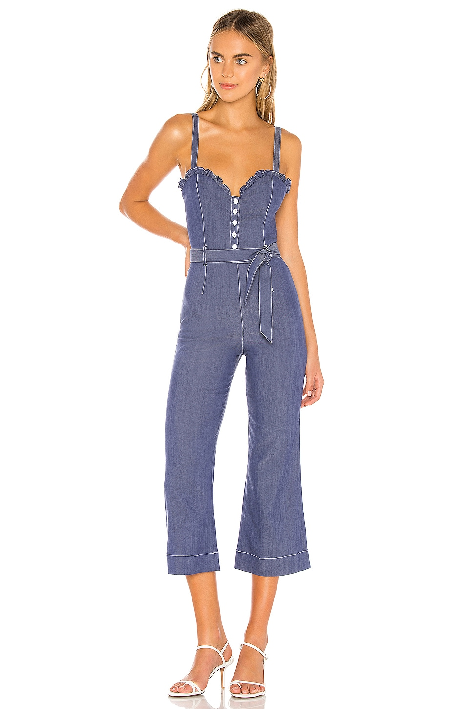 Privacy Please Luca Jumpsuit in Dark Indigo Blue