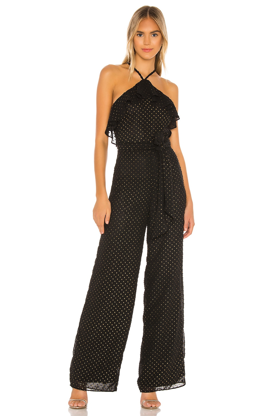 Privacy Please Kyra Jumpsuit en Black & Gold