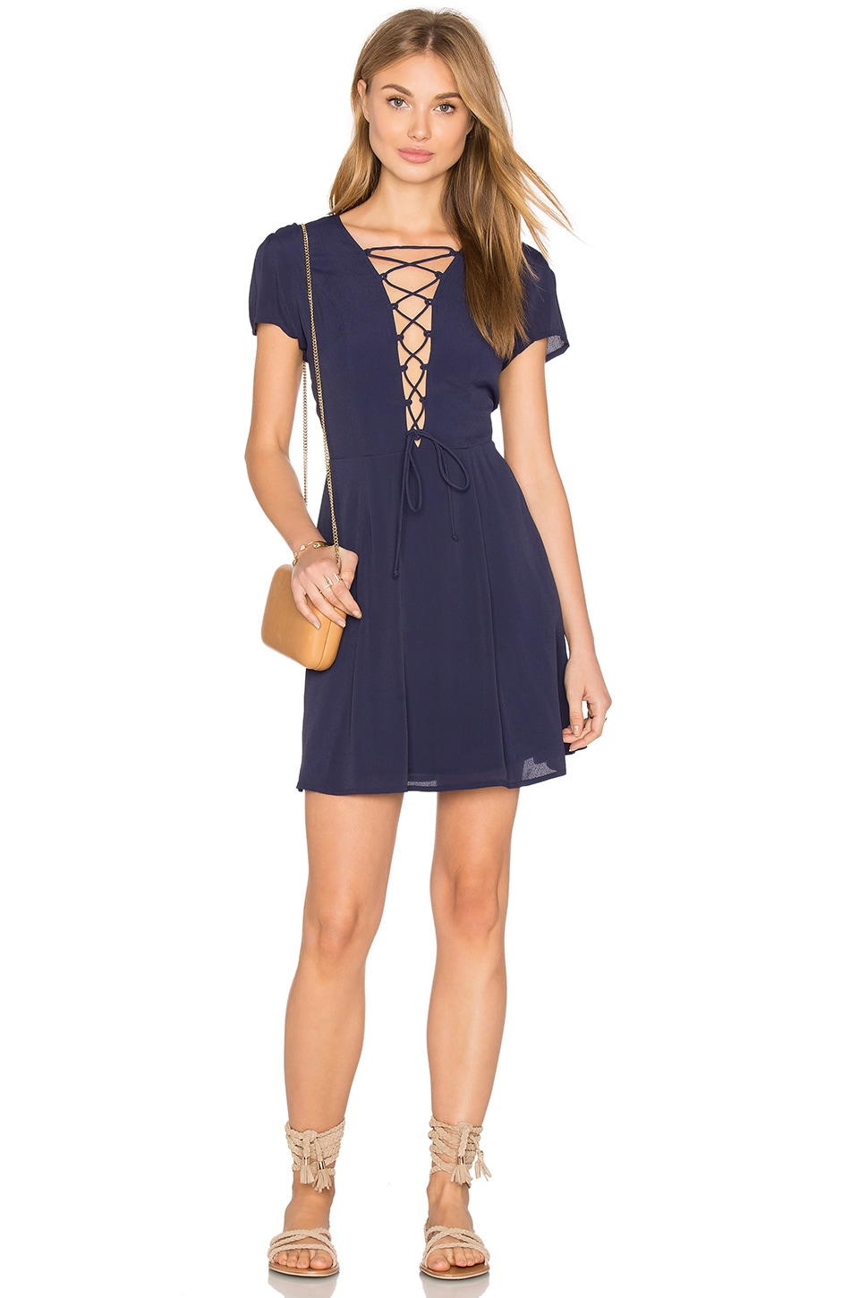 Privacy Please Phillips Dress in Navy