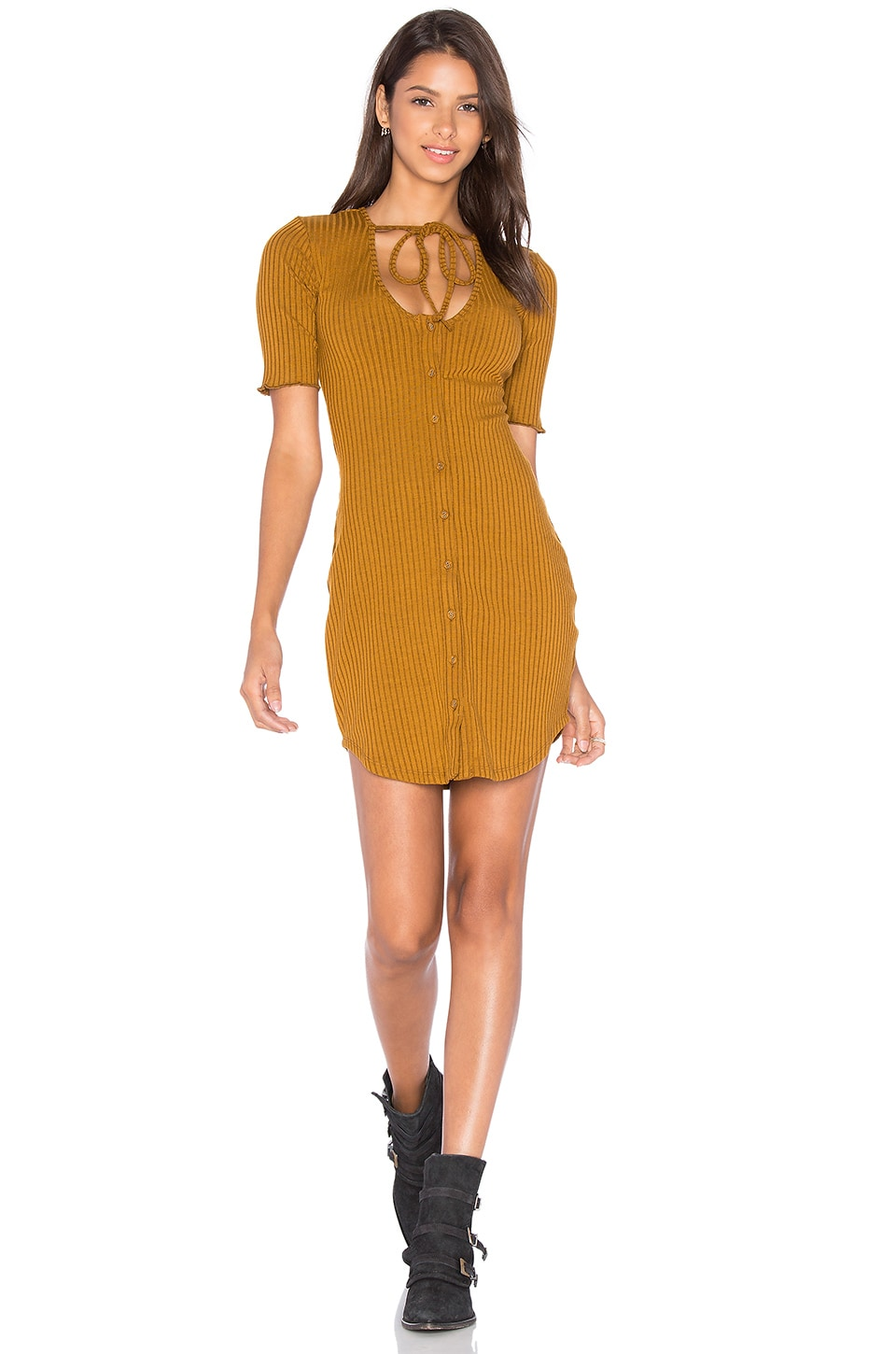 Privacy Please Prentiss Dress in Camel