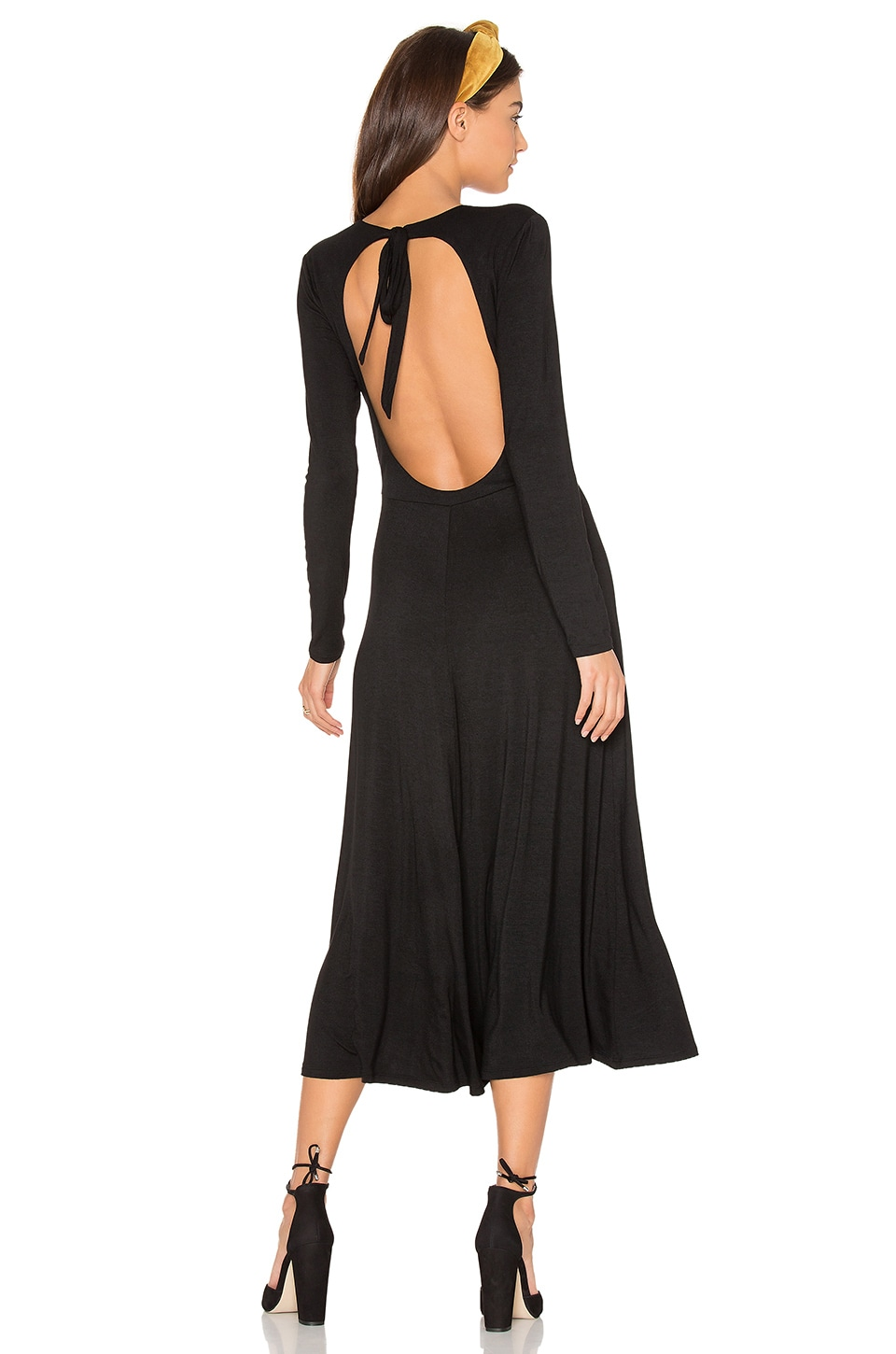 Privacy Please Poppy Dress in Black