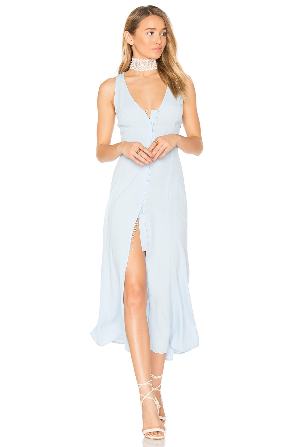Privacy Please Lomax Dress in Baby Blue