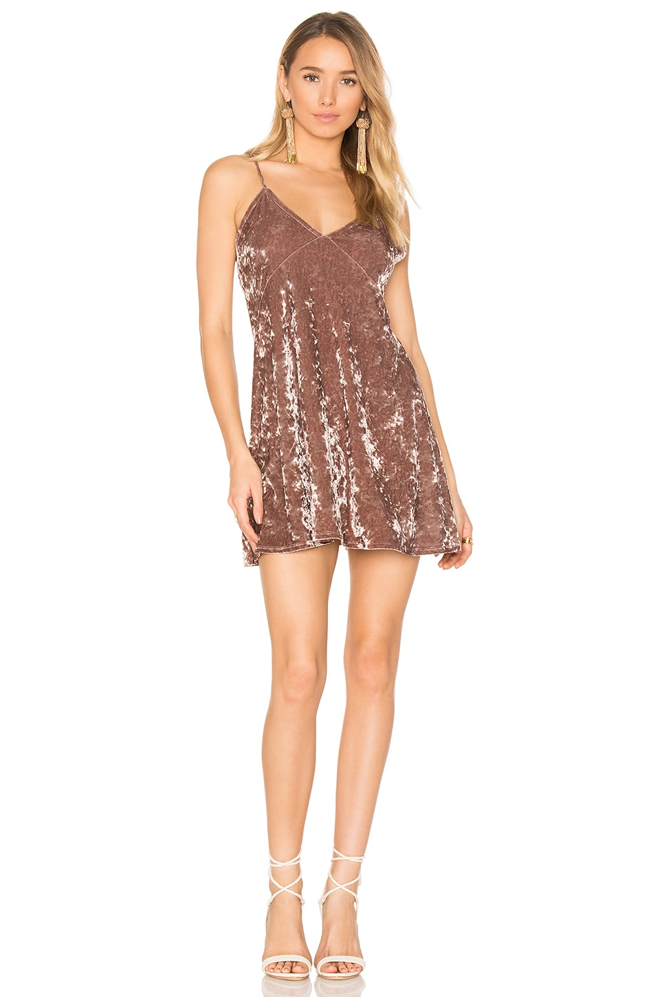 Privacy Please x REVOLVE Downtown Slip Dress in Mocha