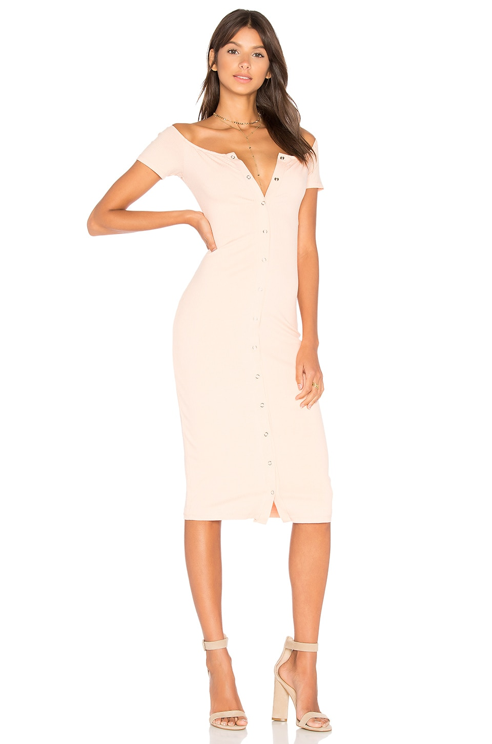 Privacy Please Rue Dress in Pale Pink