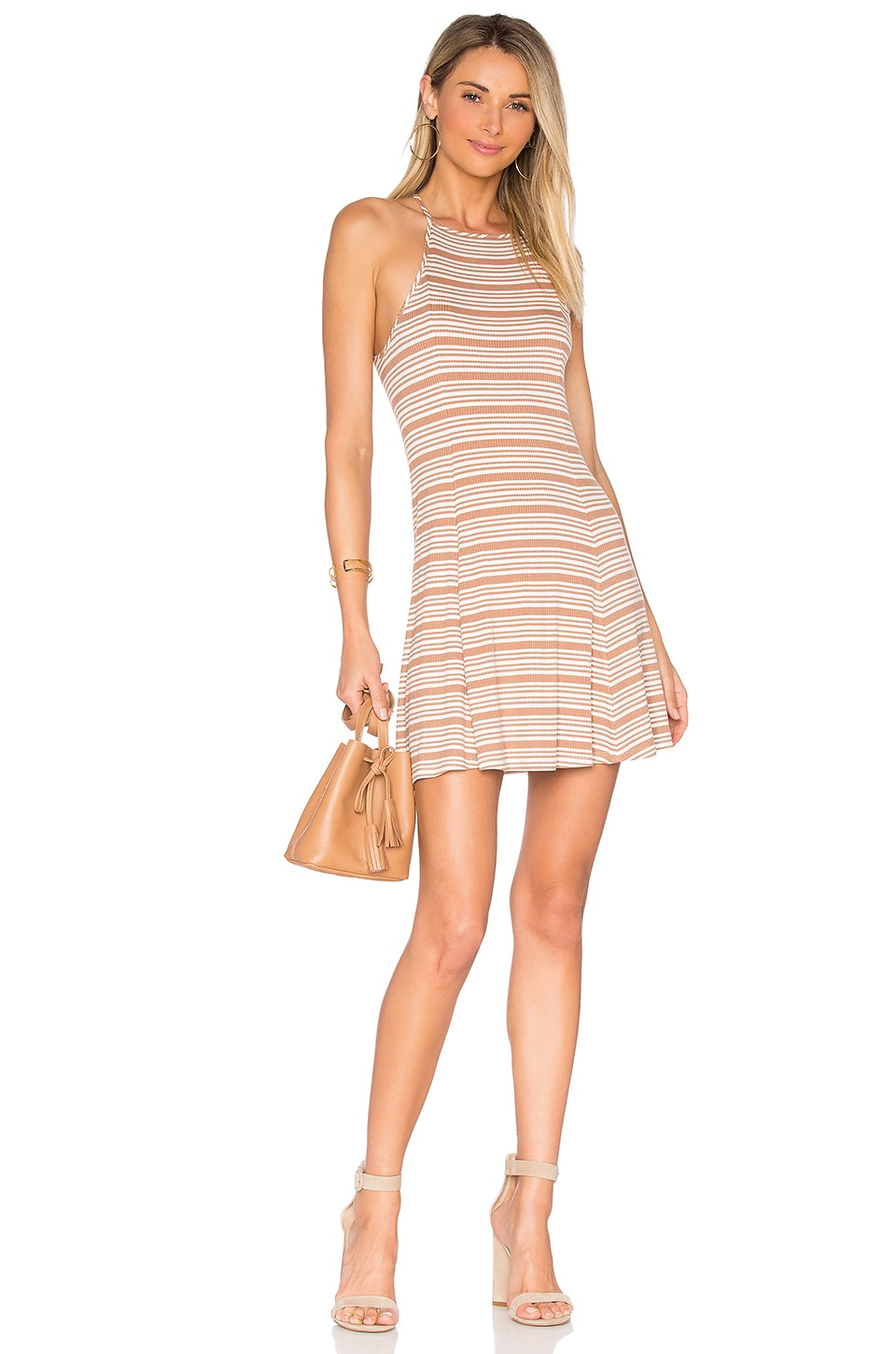 Privacy Please Holly Dress in Camel