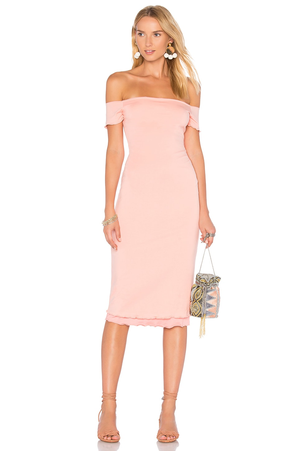 Privacy Please Caperton Dress in Salmon
