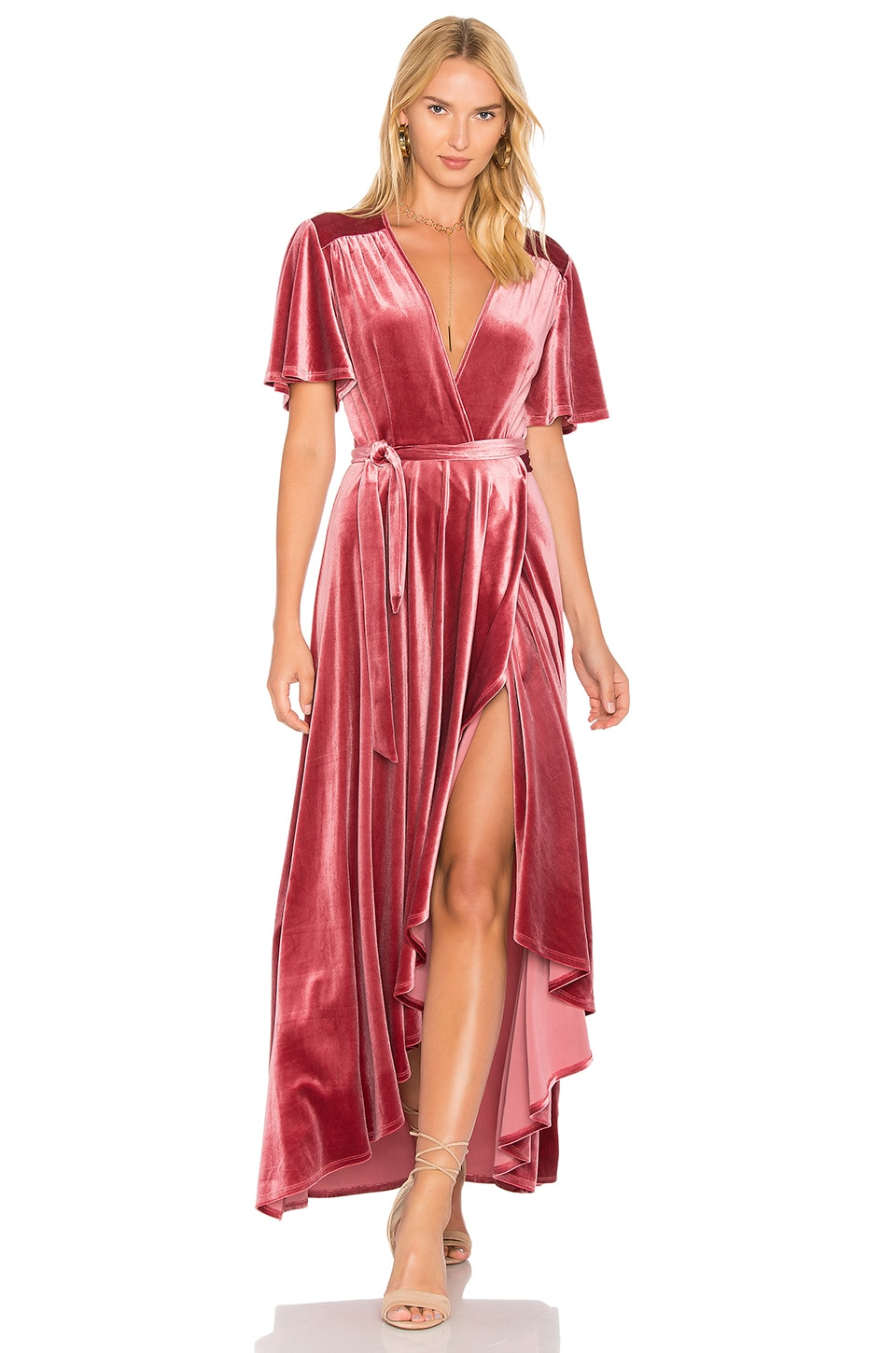 Privacy Please x REVOLVE Krause Dress in Deep Rose