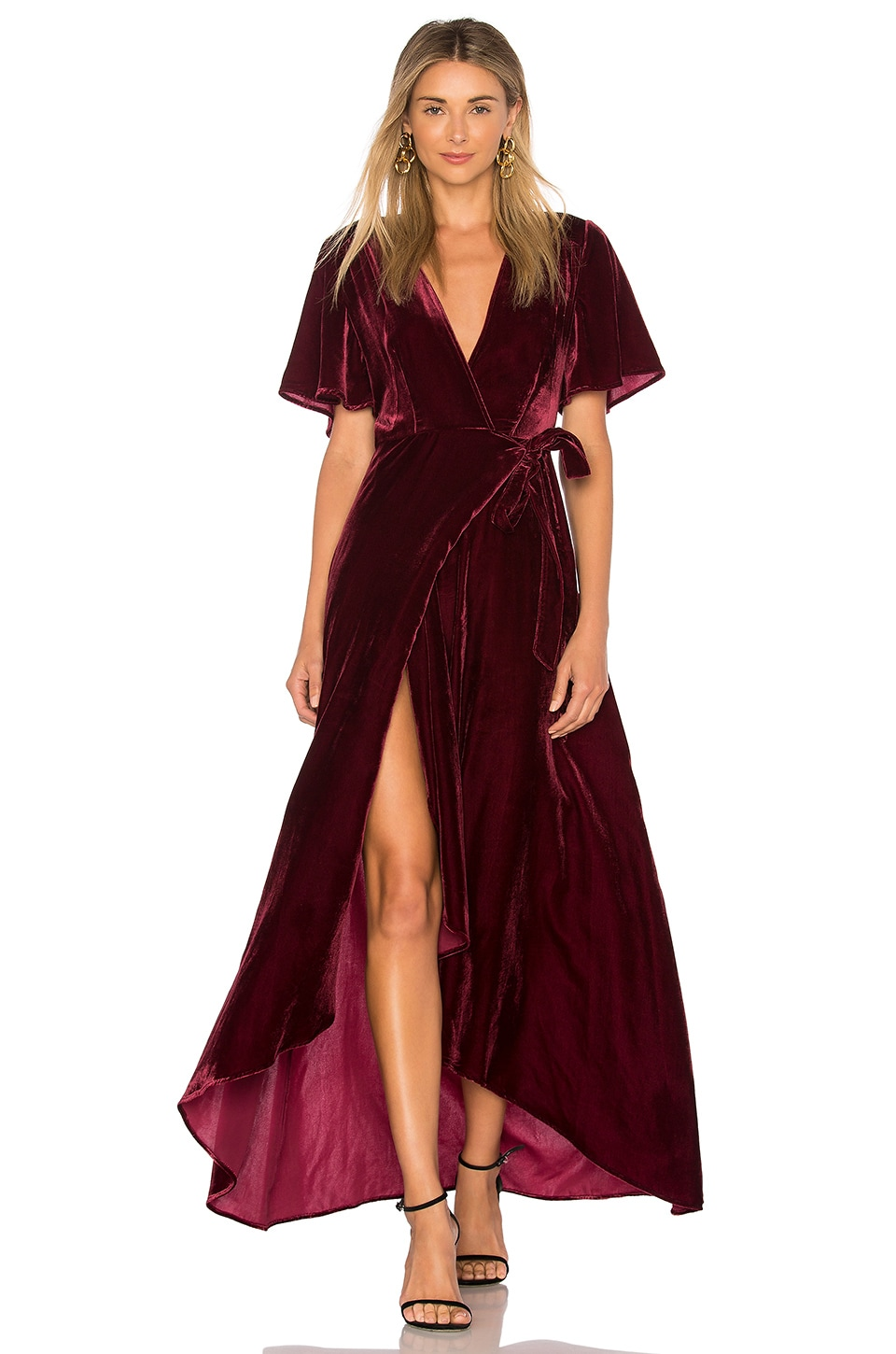 Privacy Please Krause Dress in Burgundy