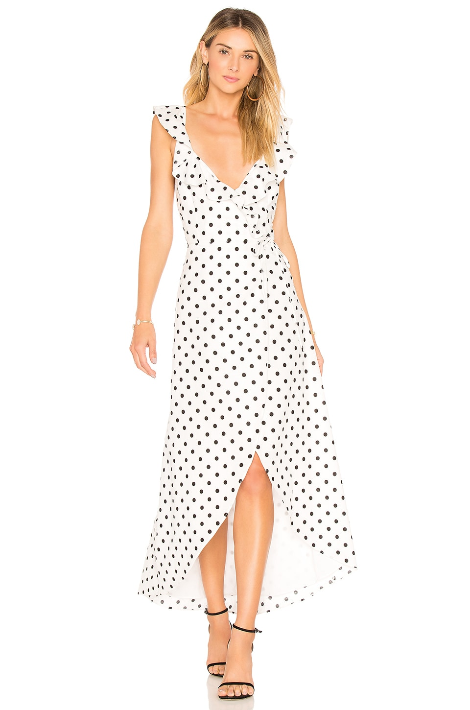 Privacy Please Fillmore Dress in White Dot